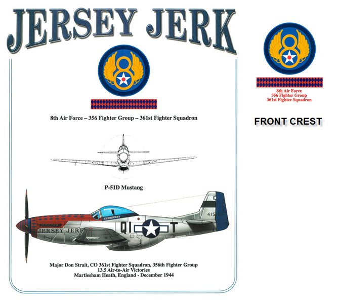 P-51 Mustang - Jersey Jerk - 356th Fighter Group