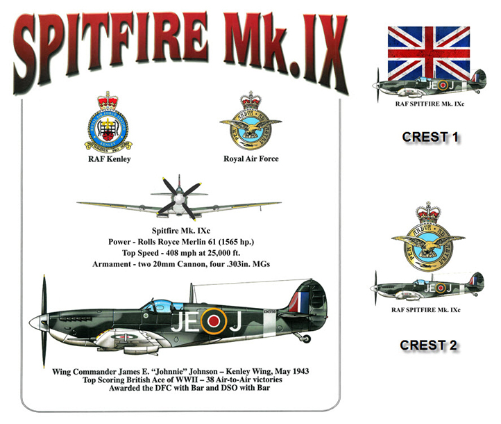 "RAF Spitfire Mk IX - James ""Johnnie"" Johnson"