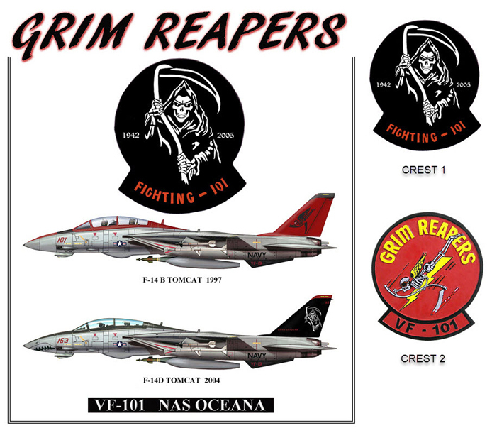 F-14 Tomcats - VF-101 Grim Reapers