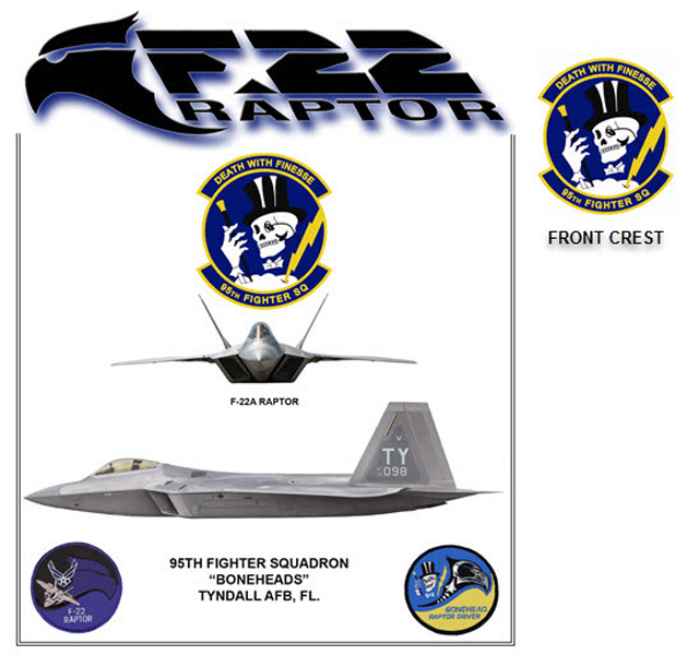 F-22A Raptor - 95th Fighter Sq.