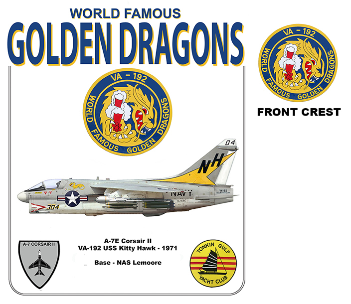 A-7E Corsair II - VA-192 Golden Dragons