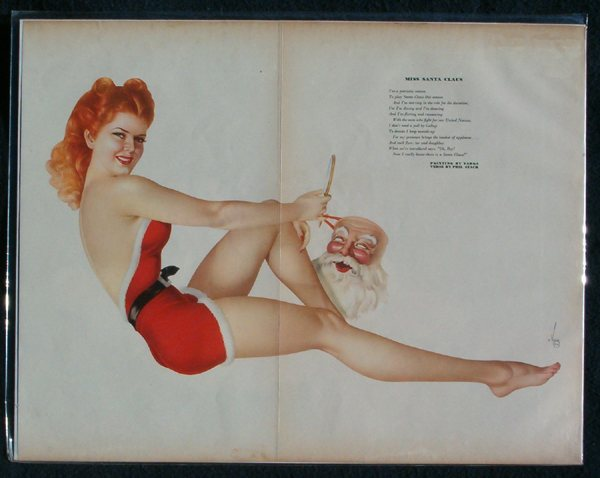 Esquire Gatefold - Miss Santa Claus