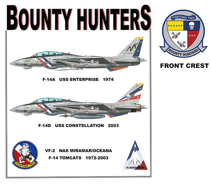 F-14 Tomcats - VF-2 Bounty Hunters