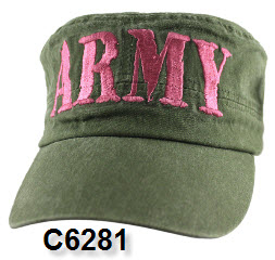Cap - Army Women's OD Retro Flat Top