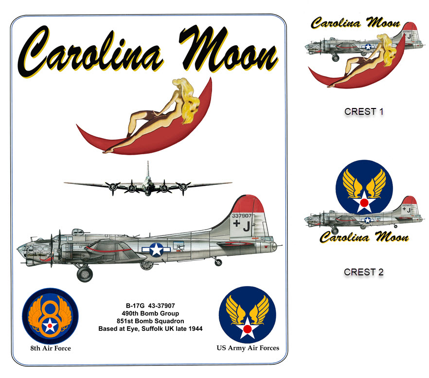 B-17 Flying Fortress - Carolina Moon