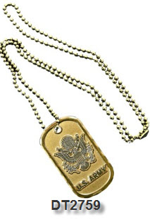 Dog Tag - Army Service Emblem