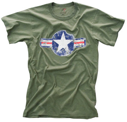 USAF Star and Bar Green